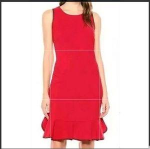Sharagano Red Dress Navy Trim Size 10 BOGO SALE!